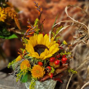 Herbstgesteck